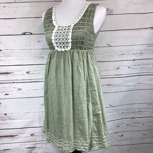 Max Studio Pale Green Cotton Dress